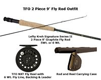 TFO Lefty Kreh 2 Piece 9' Fly Fishing Outfit with TFO Spooled Reel